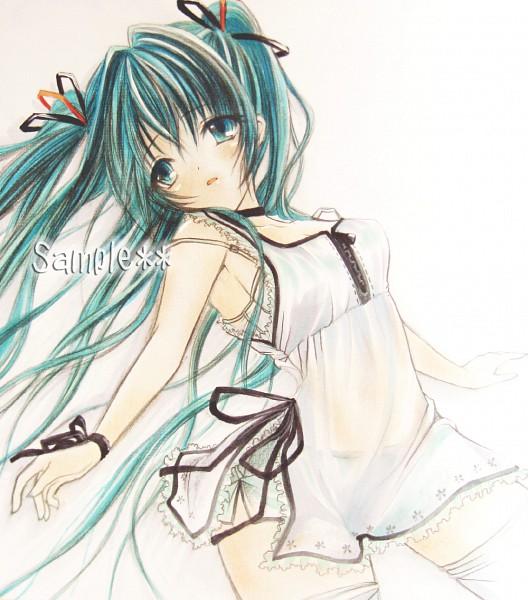 Tags: Anime, VOCALOID, Hatsune Miku, Text: Sample
