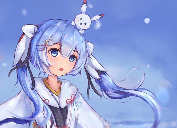 Tags: Anime, Pixiv Id 25131714, VOCALOID, Rabbit Yukine, Hatsune Miku, Yuki Design, Fanart, Fanart From Pixiv, Pixiv, Yuki Design 2018