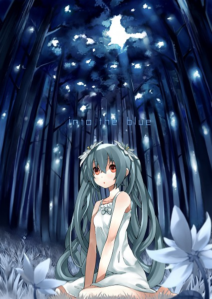 Tags: Anime, GAN (Shanimuni), VOCALOID, Hatsune Miku, Into The Blue, Pixiv, Mobile Wallpaper