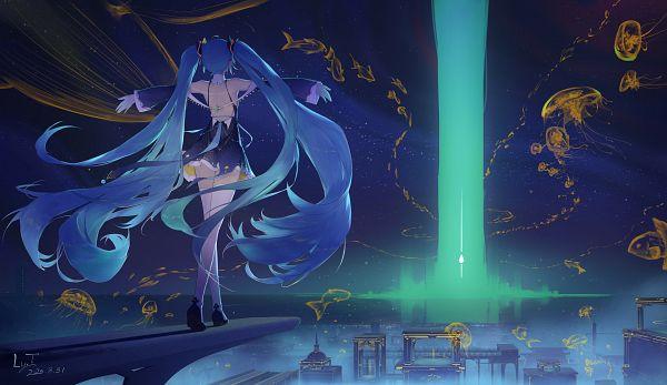Tags: Anime, Pixiv Id 14913635, VOCALOID, Hatsune Miku, Jellyfish