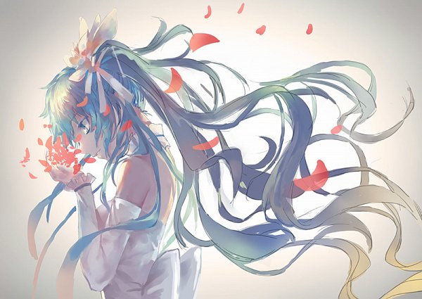Tags: Anime, Azomo, VOCALOID, Hatsune Miku, Face Down, Fanart From Pixiv, Fanart, Pixiv