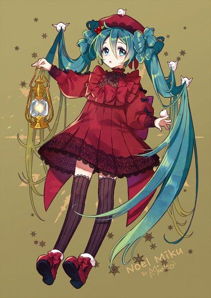 Tags: Anime, Manle, VOCALOID, Hatsune Miku, Bird on Head, Fanart From Pixiv, Fanart, Pixiv