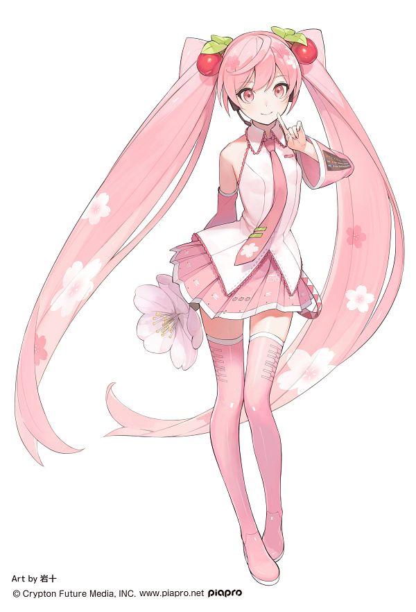 Tags: Anime, Pixiv Id 6570815, VOCALOID, Hatsune Miku, Piapro Illustrated, Product Advertising, Sakura Design, Twitter, Official Art