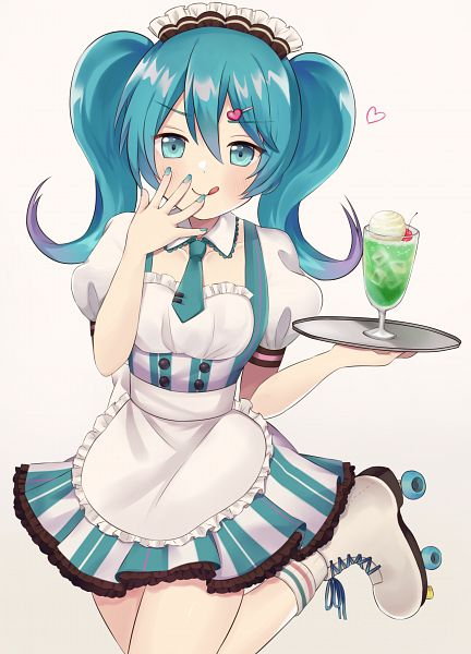 Tags: Anime, Pixiv Id 324530, VOCALOID, Hatsune Miku, Roller Skates, Fanart From Pixiv, Fanart, Pixiv