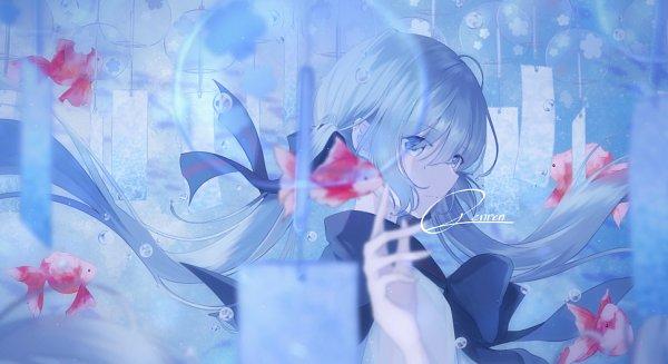 Tags: Anime, Pixiv Id 22963369, VOCALOID, Hatsune Miku, Wind Chime