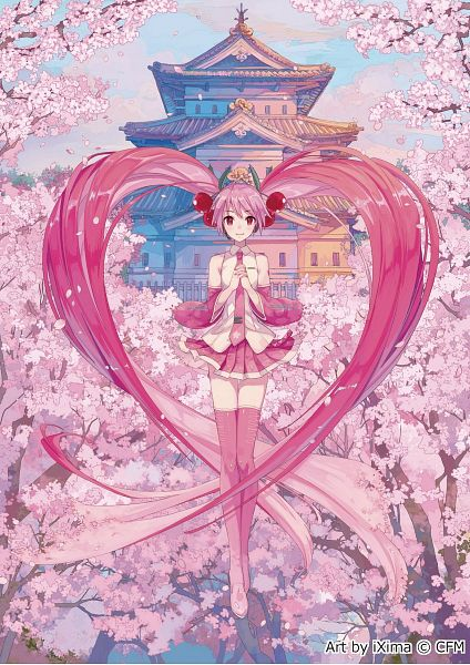 Tags: Anime, iXima, VOCALOID, Hatsune Miku, Sakura Design, Official Art