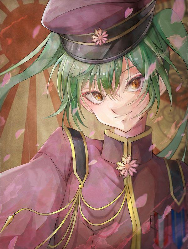Tags: Anime, Pixiv Id 61151722, VOCALOID, Hatsune Miku, Red Sun Motif, Senbonzakura (Song), Fanart, Fanart From Pixiv, Pixiv