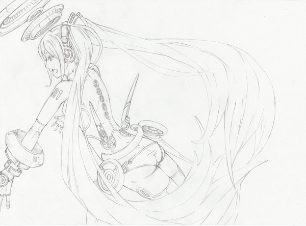 Tags: Anime, VOCALOID, Sketch