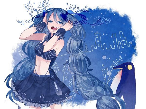 Tags: Anime, Makishimu, VOCALOID, Hatsune Miku, Pixiv, Wallpaper