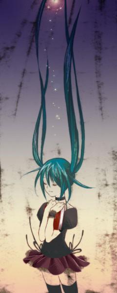 Tags: Anime, Kyabetsu Tarou, VOCALOID, Hatsune Miku, Fanart, 1/6 -out of the gravity-, Pixiv