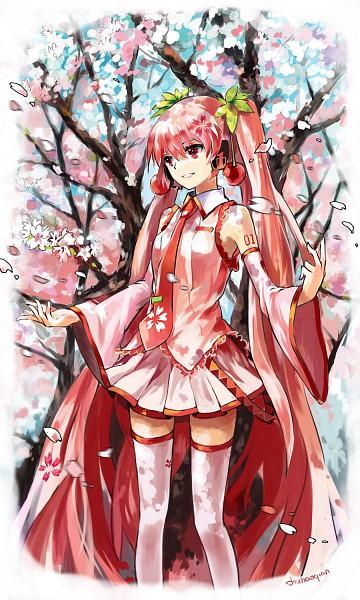 Tags: Anime, Shuhao Qian, VOCALOID, Hatsune Miku, Mobile Wallpaper, Sakura Design