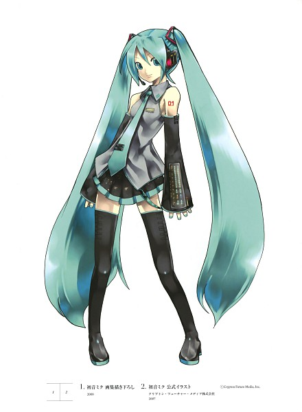Tags: Anime, KEI (Pixiv4088), VOCALOID, Hatsune Miku, Official Art, Scan