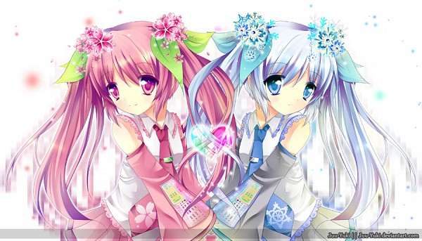Tags: Anime, Juu-yuki, VOCALOID, Hatsune Miku, Facebook Cover, deviantART, Yuki Design, Sakura Design, Hanabie (VOCALOID)