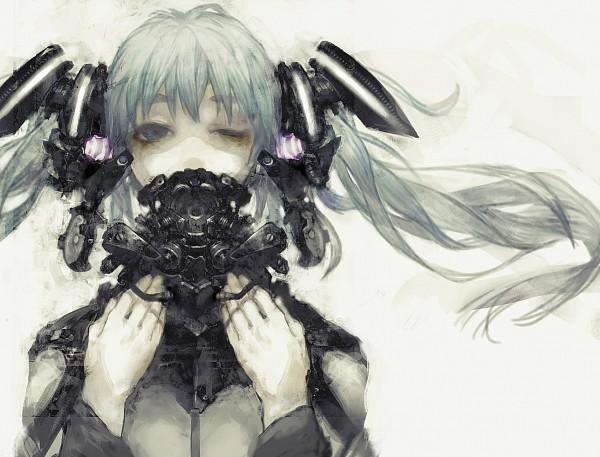Tags: Anime, OGch, VOCALOID, Hatsune Miku, God Slaying Machine, Pixiv, Fanart
