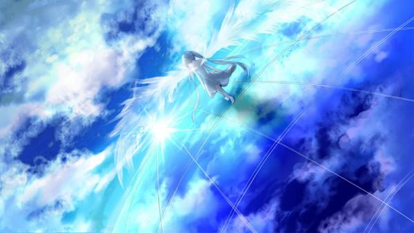 Tags: Anime, Marireroy, VOCALOID, Hatsune Miku, Facebook Cover, Pixiv