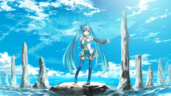 Tags: Anime, Koji (Nero), VOCALOID, Hatsune Miku, Wallpaper