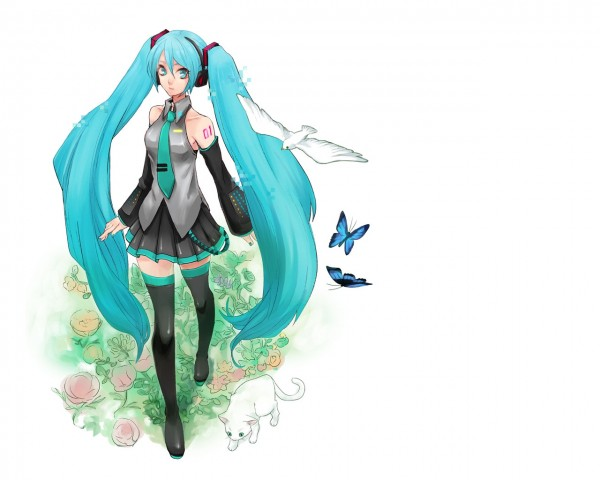 Tags: Anime, Oyuyamio, VOCALOID, Hatsune Miku, Pixiv