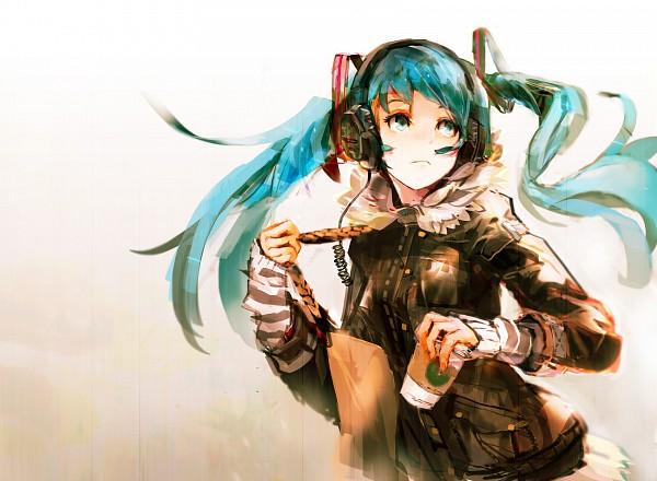 Tags: Anime, So-bin, VOCALOID, Hatsune Miku, Starbucks, Fanart, Pixiv
