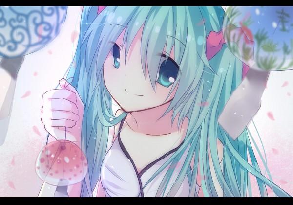 Tags: Anime, VOCALOID, Hatsune Miku, Water Yoyo