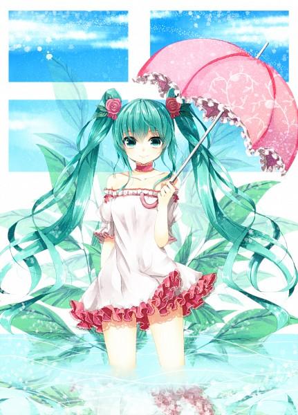 Tags: Anime, Kanzaki Maguro, VOCALOID, Hatsune Miku, Melt (Song), Mobile Wallpaper