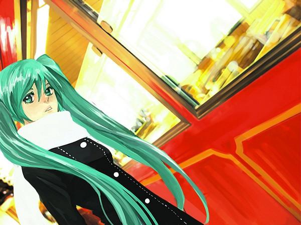Tags: Anime, VOCALOID, Hatsune Miku, Waiting, Pixiv