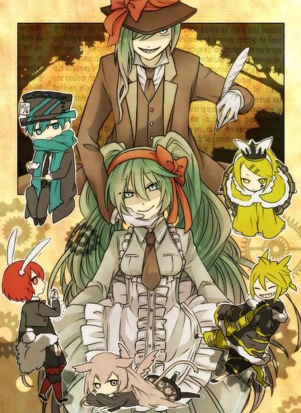 Tags: Anime, VOCALOID, Kagamine Rin, MEIKO (VOCALOID), Megurine Luka, Hatsune Miku, KAITO, Kagamine Len, Hatsune Mikuo, Fanart, Mr. Alice