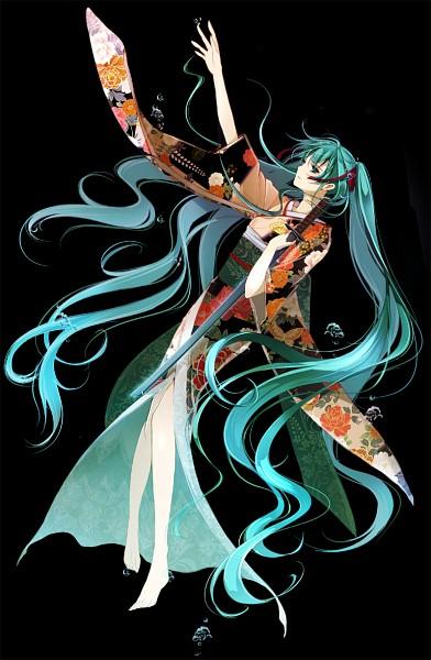 Tags: Anime, Ouka Mai, VOCALOID, Hatsune Miku, Mobile Wallpaper, Pixiv