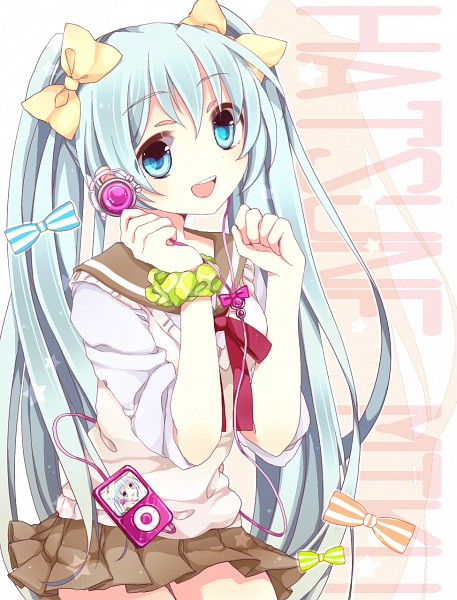 Tags: Anime, Momose (Pixiv 2246164), VOCALOID, Hatsune Miku, iPod, Fanart, Pixiv
