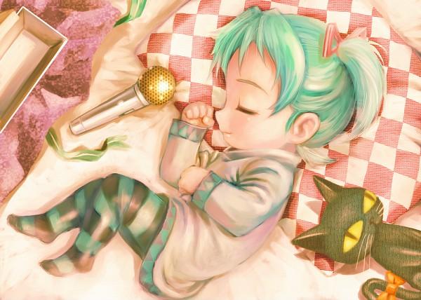Tags: Anime, Yusao, VOCALOID, Hatsune Miku, Petit Miku