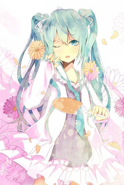 Tags: Anime, Tot (Zhxto), VOCALOID, Hatsune Miku, Mobile Wallpaper, Fanart, Pixiv