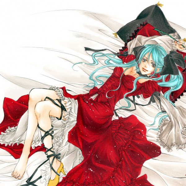 Tags: Anime, VOCALOID, Hatsune Miku, Single Shoe, Artist Request, World is Mine
