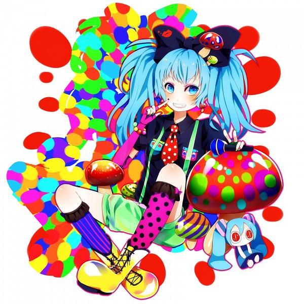 Tags: Anime, Kurone Roku, VOCALOID, Aimaina, Hatsune Miku, Mushroom Mother, Fanart