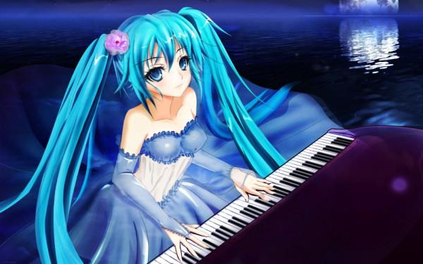 Tags: Anime, VOCALOID, Hatsune Miku, Artist Request, Wallpaper
