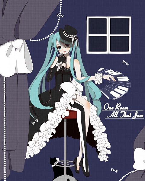 Tags: Anime, Pixiv Id 3532713, VOCALOID, Hatsune Miku, Piano Keys, One Room All That Jazz (Song)