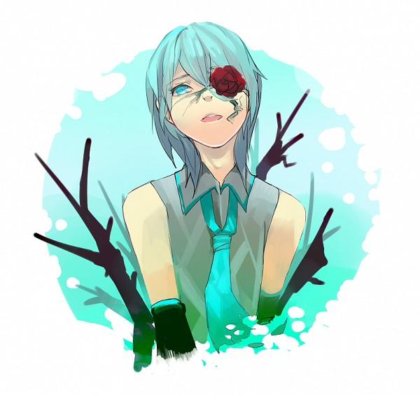 Tags: Anime, Pixiv Id 1072911, VOCALOID, Hatsune Mikuo, Eye Flower, Pixiv, Fanart