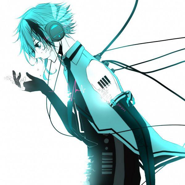 Tags: Anime, Pixiv Id 1663157, VOCALOID, Hatsune Mikuo, Futuristic Theme, Disappearing, Pixiv