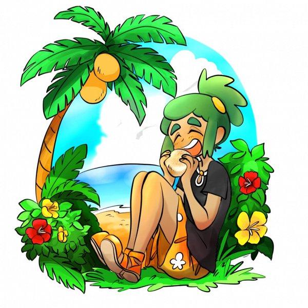 Tags: Anime, Pokémon Sun & Moon, Pokémon, Hau (Pokémon), Tropical Flower