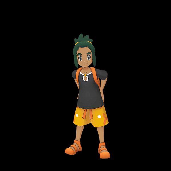 Tags: Anime, DeNA, Pokémon Masters, Pokémon Sun & Moon, Pokémon, Hau (Pokémon), Official Art, 3D