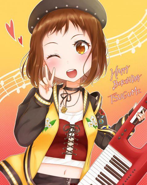 Tags: Anime, Pixiv Id 5464153, BanG Dream! Girls Band Party!, Hazawa Tsugumi, Pixiv, Fanart, Fanart From Pixiv