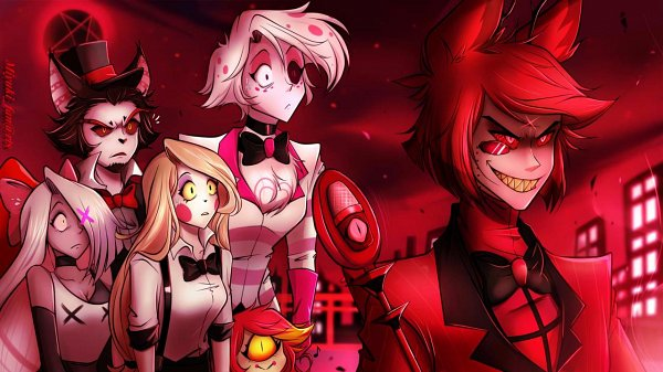 Tags: Anime, Miyuki-fanarts, Hazbin Hotel, Husk (Hazbin), Alastor (Hazbin), Charlie (Hazbin), Angel Dust (Hazbin), Niffty, Vaggie, Cyclops, deviantART