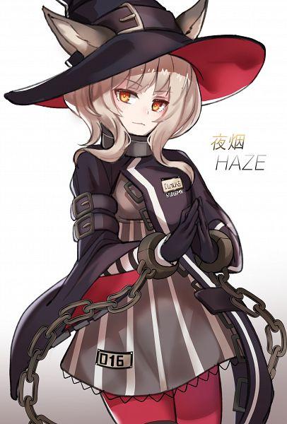 Tags: Anime, Pixiv Id 3483539, Arknights, Haze (Arknights), Vertical-striped Dress, Mobile Wallpaper, Fanart From Pixiv, Pixiv, Fanart