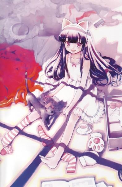 Tags: Anime, Arima Keitarou, Tsukuyomi: Moon Phase, Hazuki (Tsukuyomi: Moon Phase), Official Art