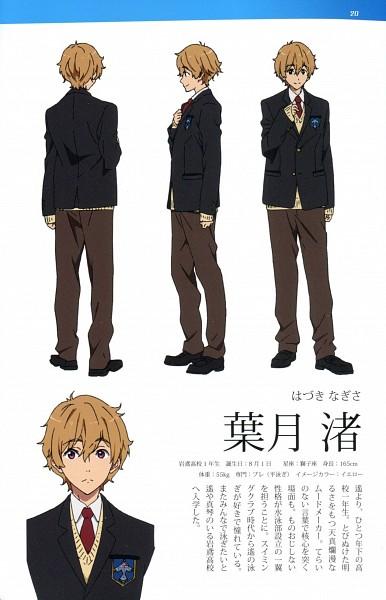 Tags: Anime, Kyoto Animation, Free!, Hazuki Nagisa, Scan, Official Art, Mobile Wallpaper, Character Sheet