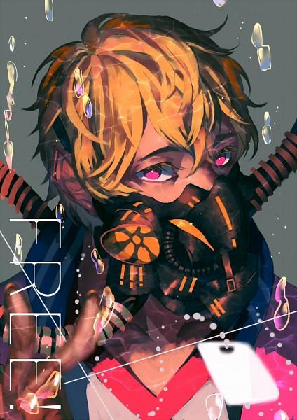 Tags: Anime, bwusagi, Free!, Hazuki Nagisa, Fanart, Mobile Wallpaper