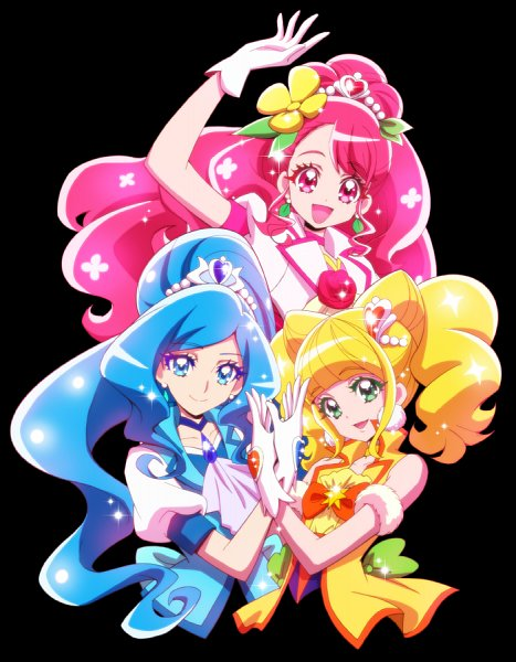 Tags: Anime, Kamikita Futago, Healin'Good♥Precure, Cure Sparkle, Sawaizumi Chiyu, Cure Fontaine, Hanadera Nodoka, Hiramitsu Hinata, Cure Grace, Official Art