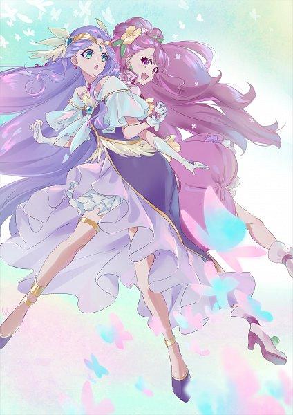 Tags: Anime, Shipu, Healin'Good♥Precure, Cure Earth, Hanadera Nodoka, Cure Grace, Fuurin Asumi, Fanart From Pixiv, Pixiv, Fanart