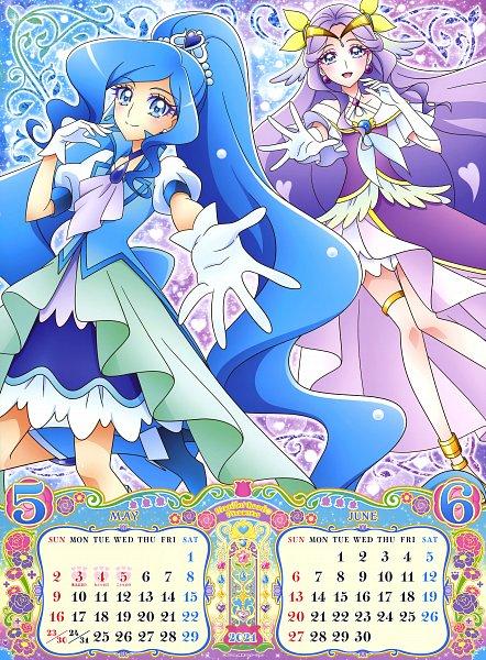 Tags: Anime, Yamaoka Naoko, Toei Animation, Healin'Good♥Precure, Sawaizumi Chiyu, Cure Fontaine, Fuurin Asumi, Cure Earth, Official Art, Scan, Calendar 2021, Calendar (Source)