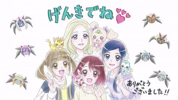 Tags: Anime, Toei Animation, Healin'Good♥Precure, Guaiwaru, Rate (Pretty Cure), Nebusoku (Healin'Good♥Precure), Shindoine, Hiramitsu Hinata, Batetemoda, Daruizen, Hanadera Nodoka, Kedary, Rabirin