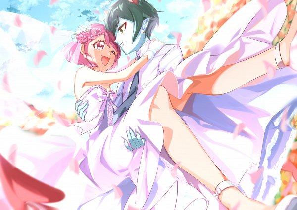 Tags: Anime, Pixiv Id 10757946, Healin'Good♥Precure, Daruizen, Hanadera Nodoka, Fanart From Pixiv, Pixiv, Fanart