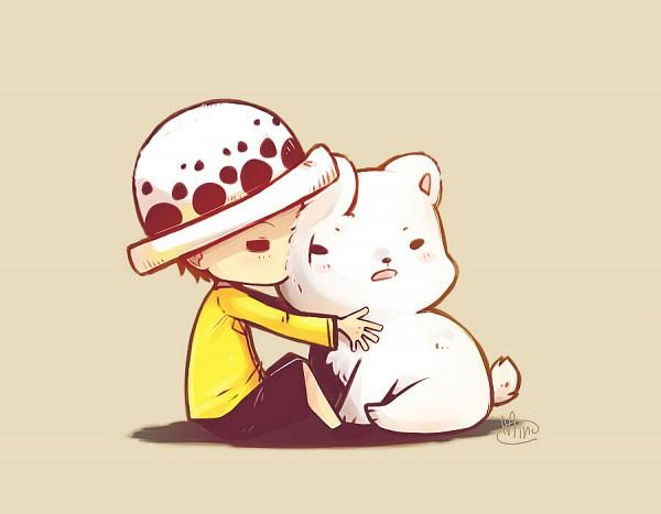Tags: Anime, Pixiv Id 3998611, ONE PIECE, Bepo, Trafalgar Law, Polar Bear, Fanart, Fanart From Pixiv, Pixiv, Heart Pirates